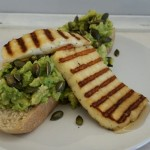 warm grilled halloumi with a dash of honey....mmmmn